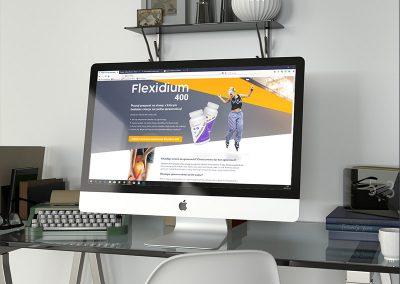 Flexidium400 – identyfikacja wizualna, strona www
