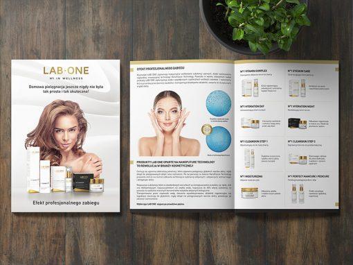 LAB ONE – materiały reklamowe, strony www, grafiki social media