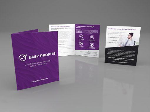 Easy Profits – ulotka reklamowa