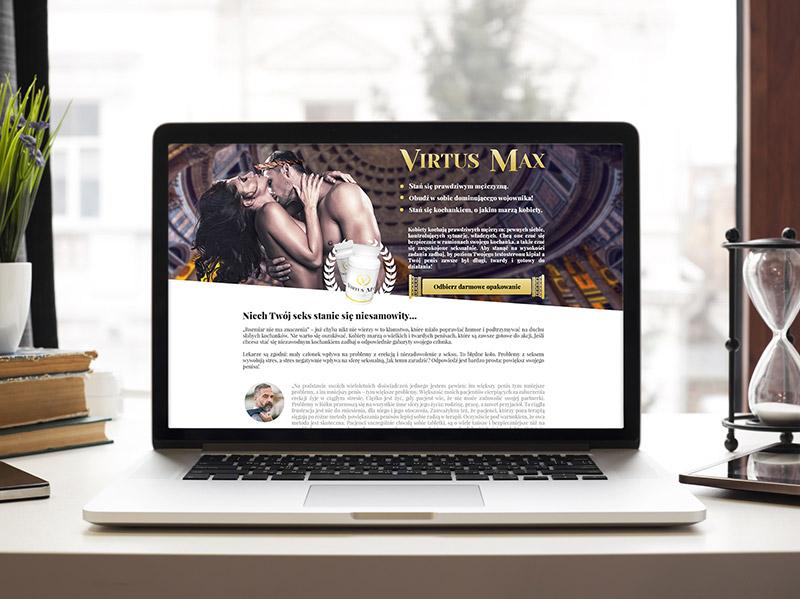 Virtus Max – identyfikacja wizualna, strona www