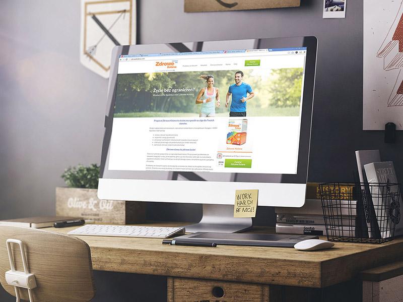 Zdrowe Kolana – projekt opakowania i strony www