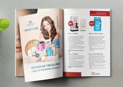 Reklama w broszurze Born in Poland 2021 by Aealia dla Noble Health