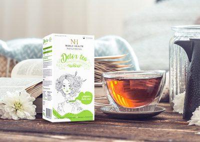 Detox Tea – projekt opakowania, przygotowanie do druku, zdjęcia packshot