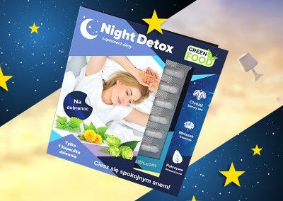 Night Detox – projekt opakowanie, przygotowanie do druku, zdjęcia packshot