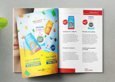 Reklama w broszurze Born in Poland by Aealia dla Noble Health